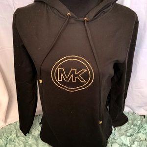 Michael Kors black pullover NWT monogram Sz M